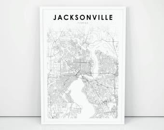 Jacksonville fl map | Etsy
