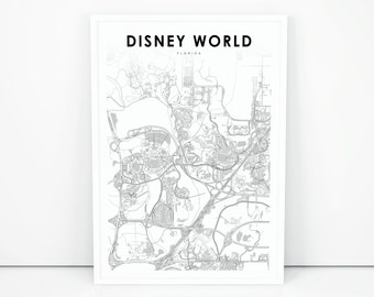 Disney map | Etsy