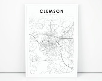 Clemson map | Etsy on reidville sc map, arcadia lakes sc map, batesville sc map, private colleges in sc map, rocky bottom sc map, antreville sc map, table rock state park sc map, cades sc map, berkeley sc map, fredericksburg tx map, johnson city sc map, chappells sc map, conestee sc map, forestbrook sc map, denver sc map, bluffton sc map, cokesbury sc map, south carolina road map, clemson university, upcountry sc map,