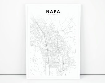 California Map Print Etsy