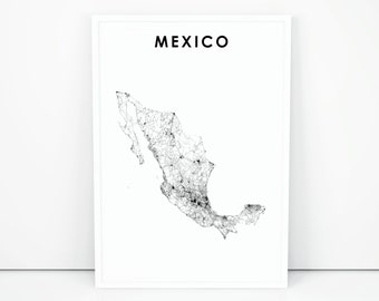 photo about Printable Maps of Mexico referred to as Mexico map Etsy
