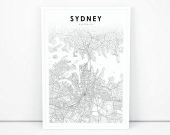 Sydney map | Etsy