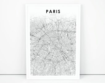 Map Of France Printable.France Map Etsy