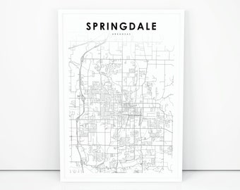 Springdale ar map | Etsy
