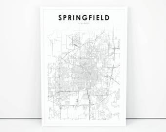 map of springfield illinois