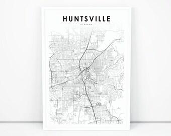 Huntsville al map   Etsy