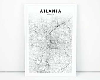 graphic relating to Printable Maps of Georgia titled Ga map print Etsy