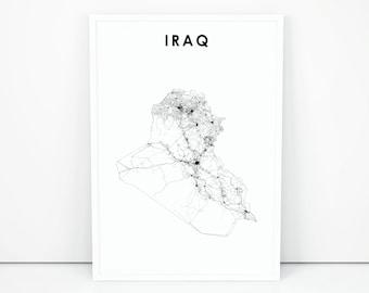 Baghdad map | Etsy