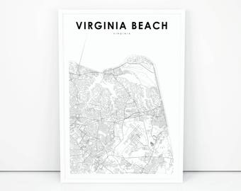 photo relating to Printable Map of Virginia called Virginia map poster Etsy
