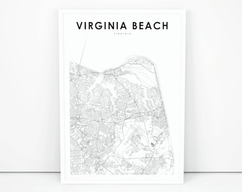 photograph relating to Printable Map of Virginia referred to as Virginia map poster Etsy