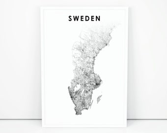 photo regarding Scandinavia Map Printable called Scandinavian map Etsy