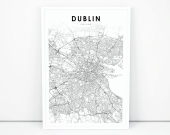 Map Of Ireland Print.Ireland Map Etsy