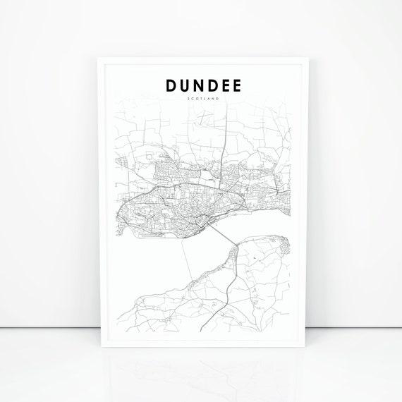 Dundee Map Print Scotland United Kingdom UK Map Art Poster   Etsy on