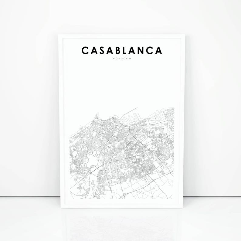 Casablanca Morocco Map on