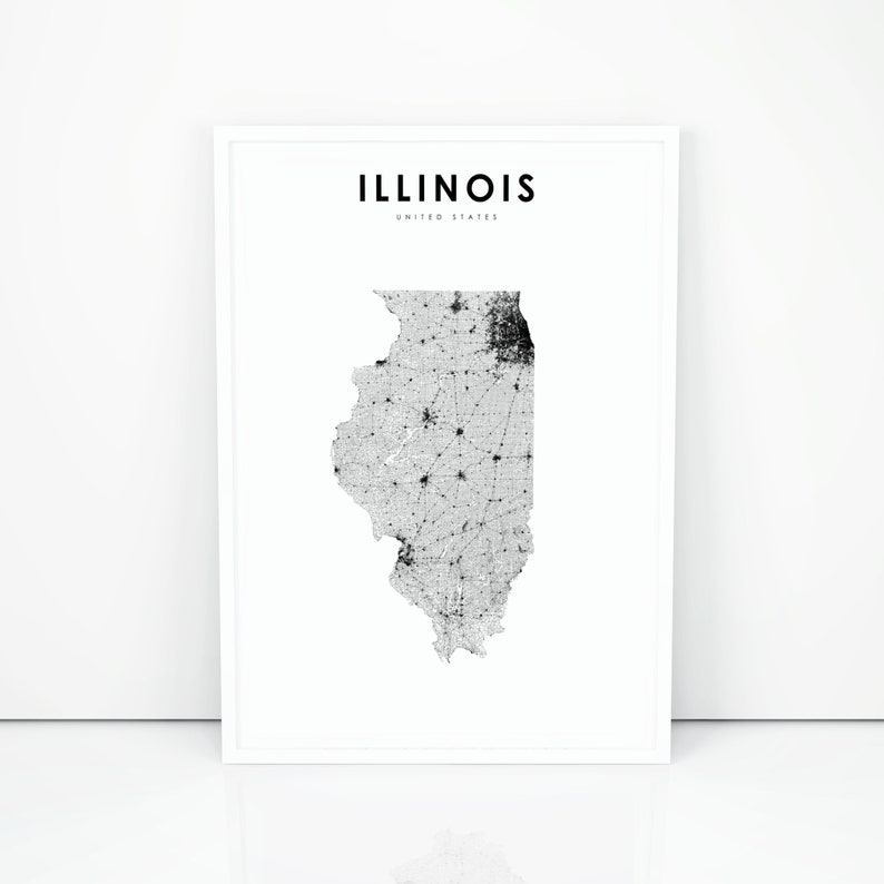 Illinois Map Print, State Road Map Print, IL USA United States Map on il state jobs, il state library, indiana road map, indiana rd map, il state road 100, iowa state map, il united states map, i'll state map, il hwy map, central illinois road map, missouri and illinois road map, il state university, illinois territory map, springfield il area map, i'll road map, illinois state highway map, il county map with roads,