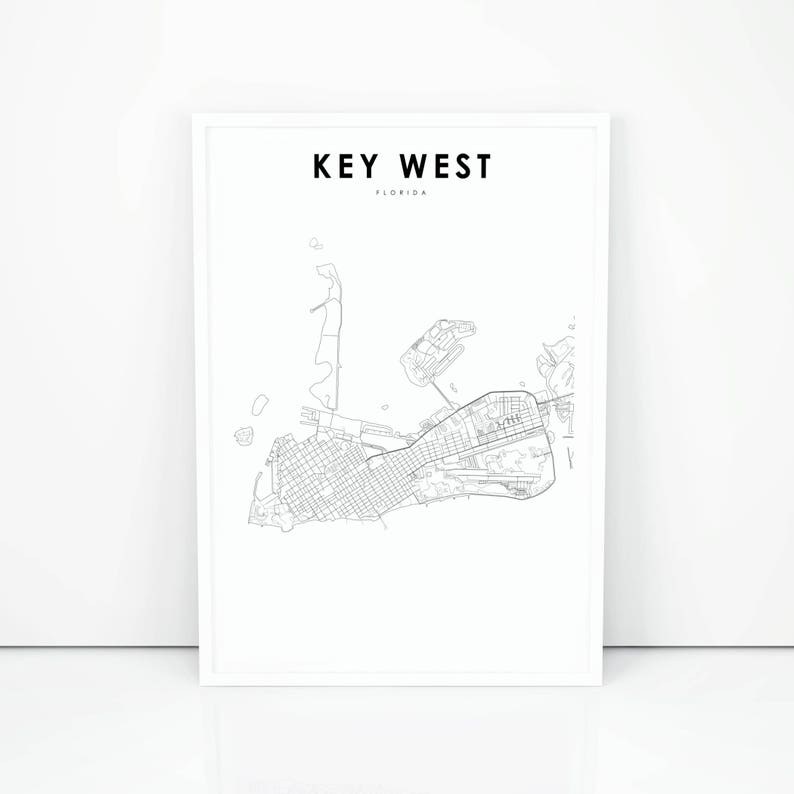 Key West Map Print, Florida FL USA Map Art Poster, City Street Road Key West Street Map Print on key west cemetery, key west maps and brochures, key west aerial view, key west bars and restaurants, key west mapquest, key west truman waterfront park, key west maps to print, key west town, key west fl street map, key west trolley route, key west weather 10 day, key west naval base 1970, key west beaches, key west city, key west historic seaport restaurants, key west shopping stores, key west fishing maps, key west fishing trips, key west street view,