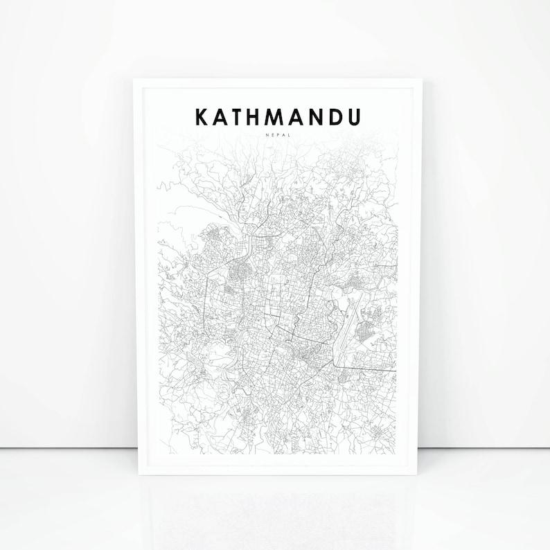 Kathmandu Map Print, Nepal Map Art Poster, City Street Road Map Print, on windhoek city street map, shanghai city street map, juba city street map, chicago city street map, munich city street map, jerusalem city street map, montevideo city street map, phoenix city street map, athens city street map, kowloon city street map, kigali city street map, hobart city street map,