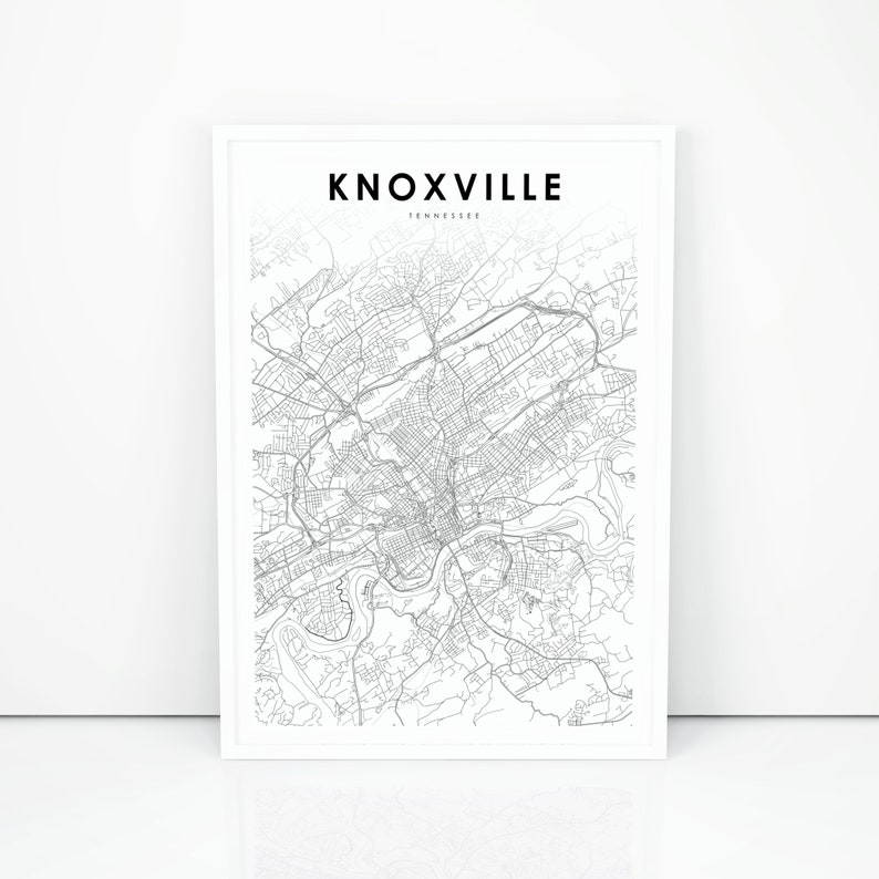 picture about Printable Map of Tennessee Counties named Knoxville Map Print, Tennessee TN United states Map Artwork Poster, Knox County, Town Road Street Map Print, Nursery Place Wall Place of work Decor, Printable Map