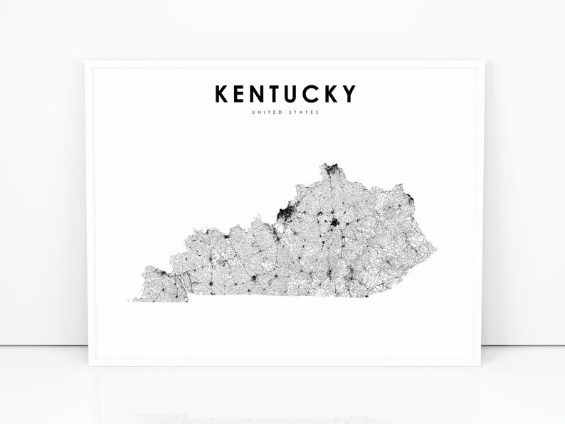 Kentucky Map Print, State Road Map Print, KY USA United States Map on louisville road map, printable kentucky atlas, florida road map, fun kentucky road map, printable kentucky physical map, eastern ky road map, printable massachusetts map, printable blank kentucky map, printable mississippi river map, kentucky state map, ky state highway map, printable ring of fire map,