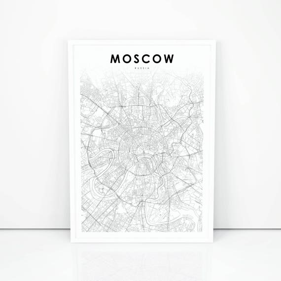 photo regarding Printable Map of Russia referred to as Moscow Map Print, Russia Map Artwork Poster, Metropolis Highway Highway Map Print, Nursery Space Wall Workplace Decor, Printable Map