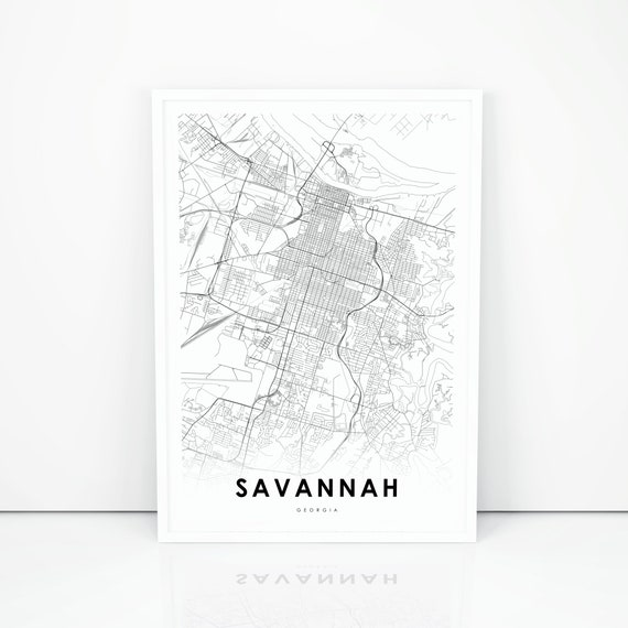 Savannah Map Print, Georgia GA USA Map Art Poster, Chatham County, on crime map savannah ga, zip code savannah ga, us map savannah ga, tourist map savannah ga, atlas map savannah ga, weather map savannah ga, city savannah ga, street map savannah ga, georgia savannah ga,
