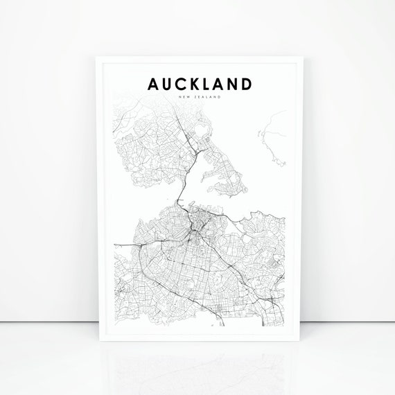 image relating to New Zealand Map Printable named Auckland Map Print, Fresh Zealand Map Artwork Poster, Town Highway Street Map Print, Nursery Space Wall Business office Decor, Printable Map