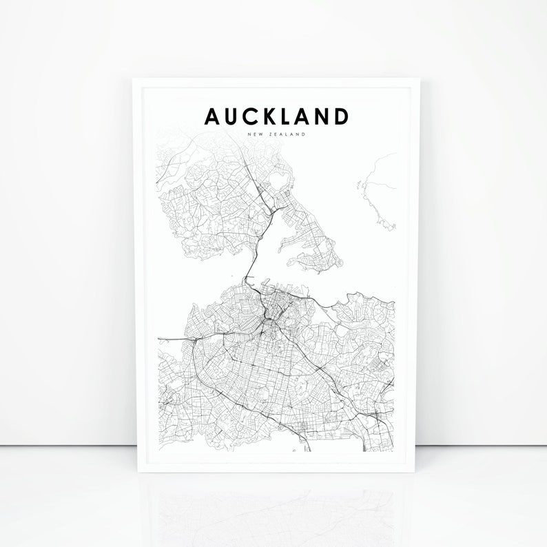 City Map Of New Zealand.Auckland Map Print New Zealand Map Art Poster City Street Road Map Print Nursery Room Wall Office Decor Printable Map