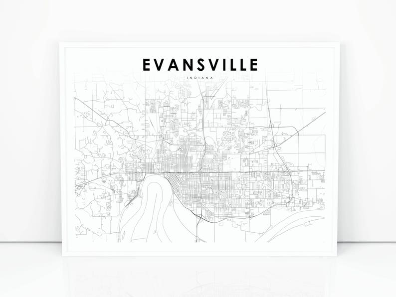 Evansville Map Print, Indiana IN USA Map Art Poster, City Street Road on indiana shale map, indiana map with capital, indiana on usa map, indiana and map, indiana state map, indiana lakes, indiana st map, maryland state map of usa, map of se usa, indianapolis on map of usa, basic map of usa, show map of usa, historical map of usa, massachusetts map of usa, indiana state animal,