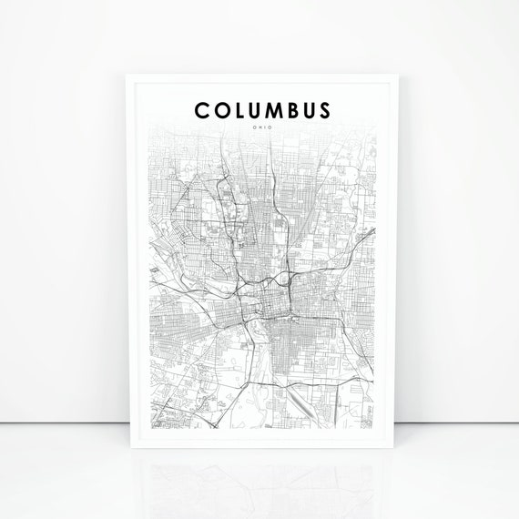 Columbus Map Print, Ohio OH USA Map Art Poster, City Street Road Map on printable map nc, aerial view of columbus, printable map ky, printable map wv, printable map texas, google map of columbus, topographical map of columbus, printable map kansas, printable honolulu map, printable map nj, printable map georgia, printable dallas map, printable new orleans map, castle of columbus, printable map ohio,