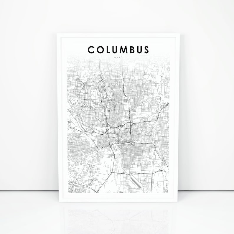 Columbus Map Print Ohio OH USA Map Art Poster City Street | Etsy