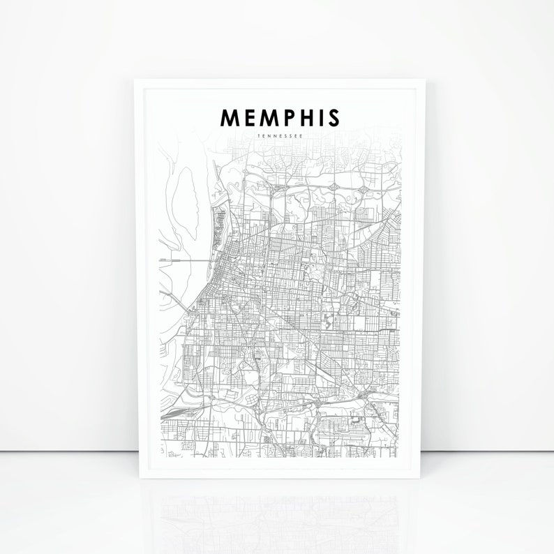 photo about Printable Map of Tennessee Counties named Memphis Map Print, Tennessee TN United states of america Map Artwork Poster, Shelby County, Town Highway Street Map Print, Nursery Space Wall Place of work Decor, Printable Map
