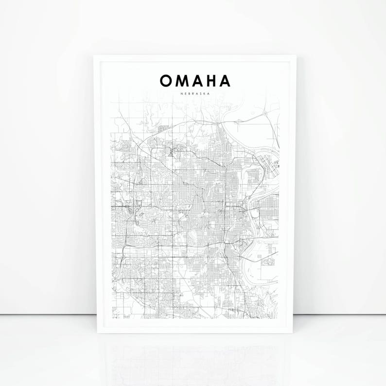 Omaha Map Print Nebraska NE USA Map Art Poster City Street | Etsy