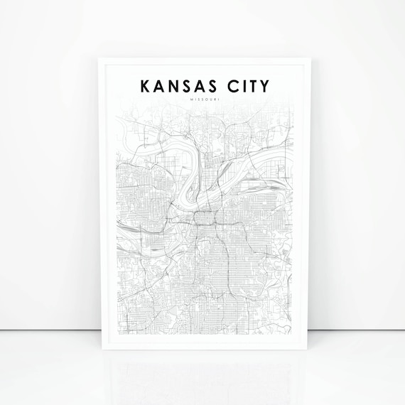 Kansas City Map Print Missouri MO USA Map Art Poster City | Etsy