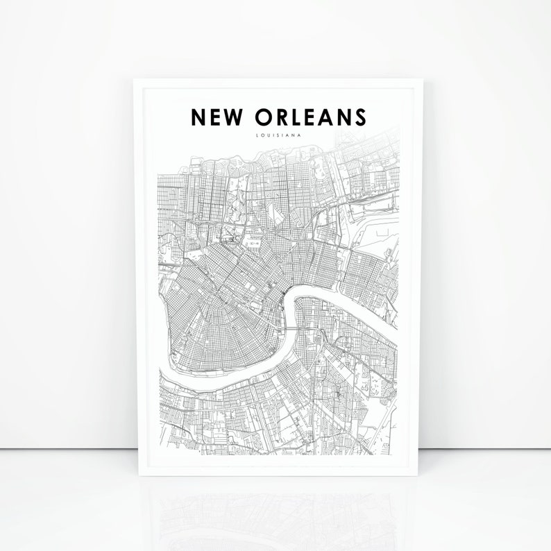 New Orleans Map Print, Louisiana LA USA Map Art Poster, City Street on map of south louisiana, black and white map of louisiana, political map of louisiana, official map of louisiana, enlarged printable map of louisiana, coloring map of louisiana, large map of louisiana, physical map of louisiana, blank map of louisiana, map of lake charles louisiana, printable map north carolina south carolina, view map of louisiana, 3d map louisiana, travel map of louisiana, driving map of louisiana, printable map of virginia with cities, maps by parish louisiana, detailed map of louisiana, printable map of louisiana parishes, map of southern louisiana,