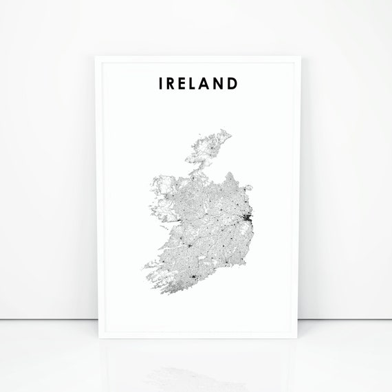 picture about Printable Map of Uk and Ireland named Eire Map Print, Highway Map Artwork Poster, Éire United kingdom United Kingdom, Ideal Britain, Dublin Map, Nursery Place Wall Workplace Decor, Printable Map