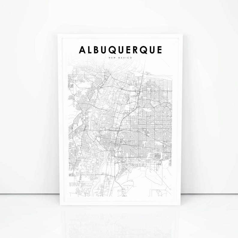 Albuquerque Map Print New Mexico NM USA Map Art Poster City | Etsy