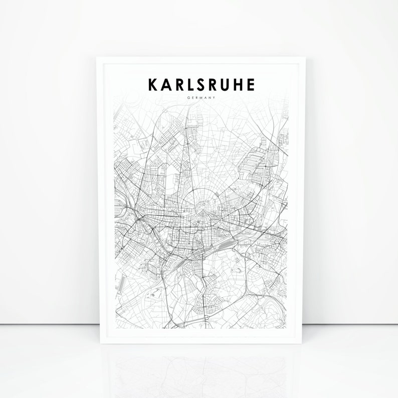 Karlsruhe Map Of Germany.Karlsruhe Map Print Germany Map Art Poster Carlsruhe De City Street Road Map Print Nursery Room Wall Office Decor Printable Map