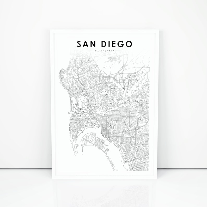 San go Map Print California CA USA Map Art Poster City | Etsy Ca Usa Map on