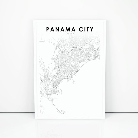 Panama City Map Print, Panama Map Art Poster, Panamá, City Street Road Map  Print, Nursery Room Wall Office Decor, Printable Map