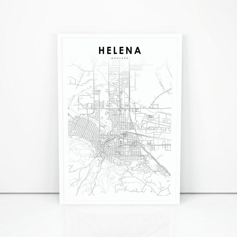 Helena Map Print Montana MT USA Map Art Poster City Street | Etsy