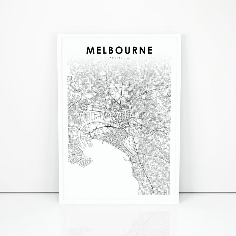 Road Map Victoria Australia.Melbourne Map Print Australia Victoria Vic Map Art Poster City Street Road Map Print Nursery Room Wall Office Decor Printable Map