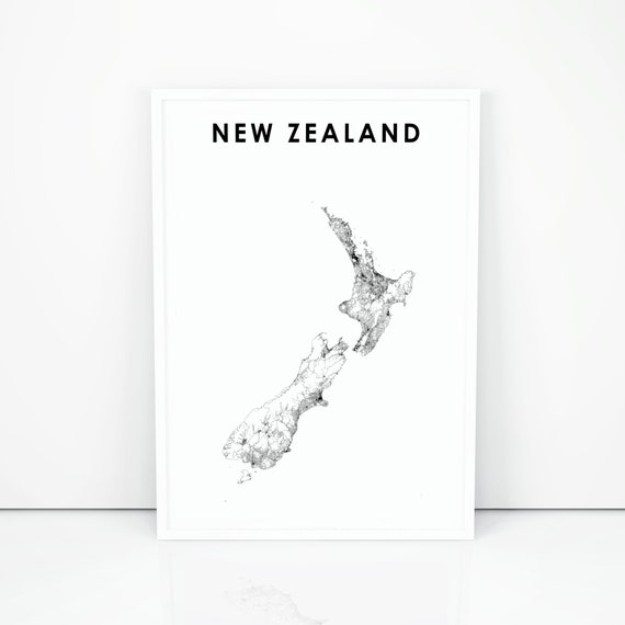 Printable Map New Zealand.New Zealand Map Print Road Map Art Poster Nz Wellington Auckland Country Map Art Nursery Room Wall Office Decor Printable Map