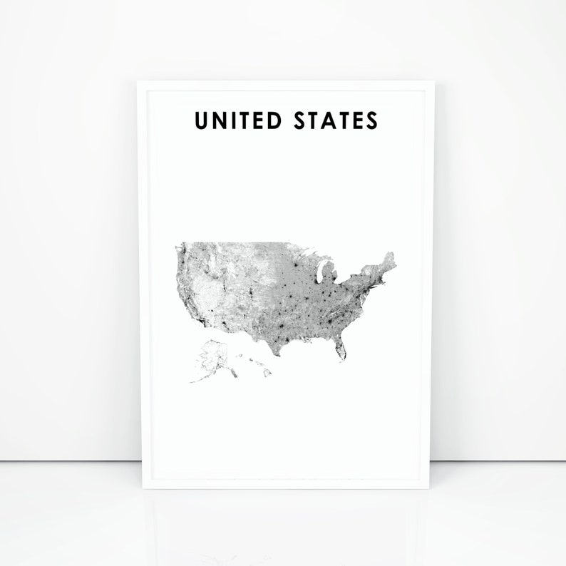 photograph regarding North America Map Printable referred to as United states Map Print, Street Map Artwork Poster, United Says Streets North The united states Alaska Hawaii Map Artwork, Nursery Place Wall Place of work Decor, Printable Map
