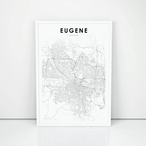 Eugene Map Print, Oregon OR USA Map Art Poster, City Street Road Map on oregon counties map, oregon on alabama, portland river map, bend central oregon map, oregon department of forestry, oregon county map, the oregon map, oregon co map, oregon map online, oregon coast ranges physical, oregon railroads today map, oregon map with cities only, oregon tail map, oregon map google earth, portland oregon map, oregon on world map, oregon in us, oregon community college map, oregon capital map, portland county map,