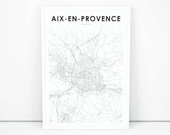 Aix en provence map Etsy