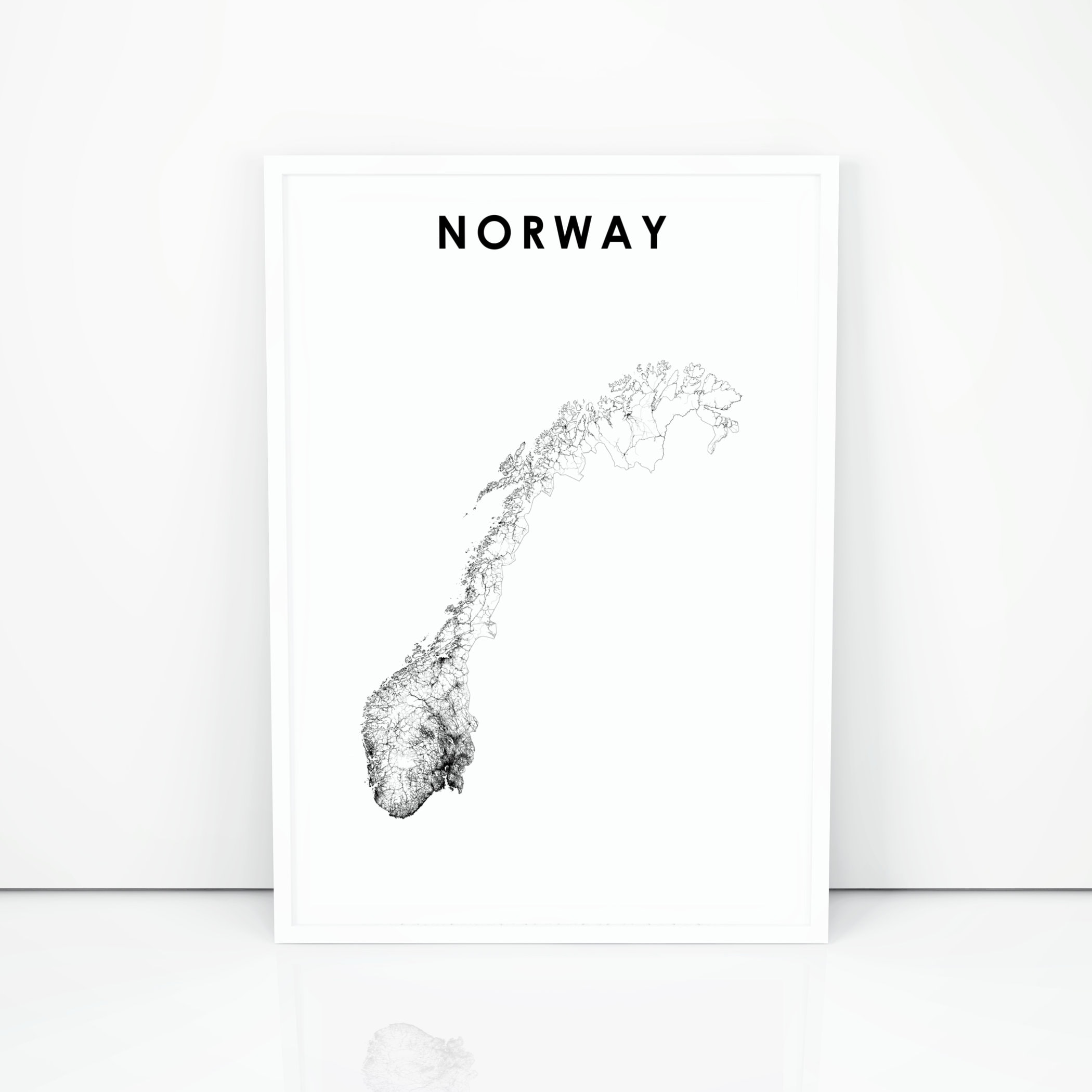 graphic about Printable Map of Norway titled Norway Map Print, Street Map Artwork Poster, Norge Noreg Norgga Norwegian Oslo Scandinavian Map Artwork, Nursery Place Wall Office environment Decor, Printable Map