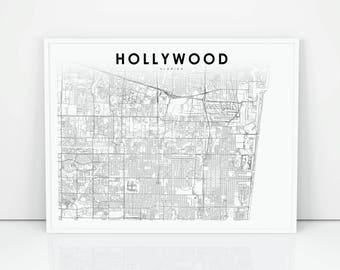 Hollywood map Etsy