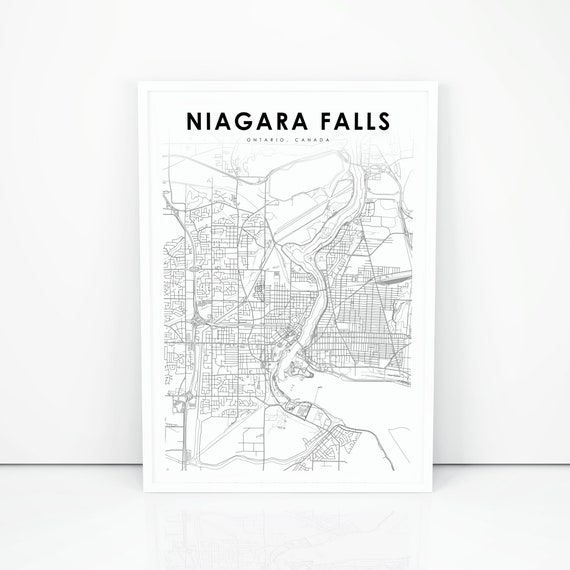 Niagara Falls Canada Map Print Ontario On Canada Map Art Poster City Street Road Map Print Nursery Room Wall Office Decor Printable Map