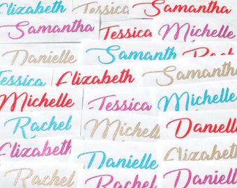 Custom Name Decal, Name Stickers, Glitter, Sticker Pack, Wedding Decor, Wine Glass Decal, Custom Vinyl Decal, Personalized, Planner Stickers