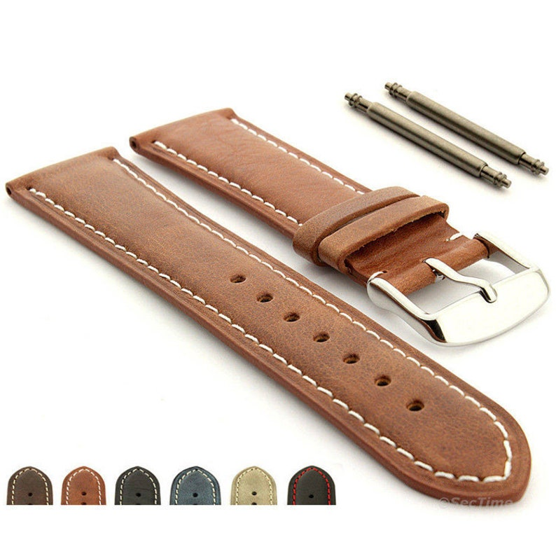 bffca5114491d 18mm 19mm 20mm 21mm 22mm 24mm Genuine Leather Watch Strap Band
